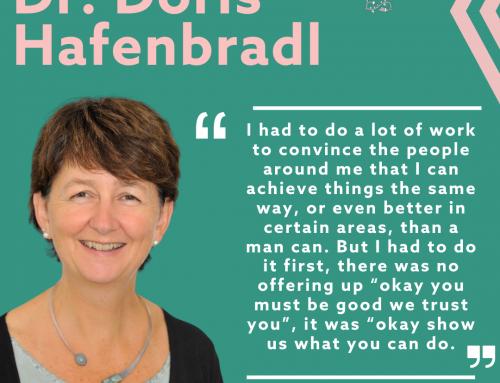 Dr. Doris Hafenbradl: You have to be robust